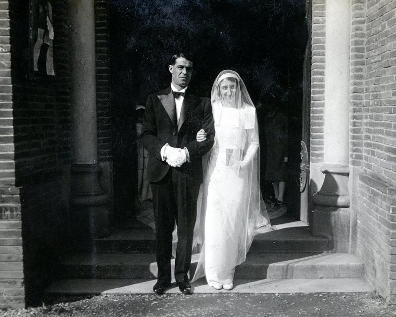 19 février 1935 – Mariage Maurice Bos – Geneviève Escribe